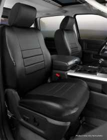 LeatherLite™ Custom Seat Cover SL67-26 BLK/BLK