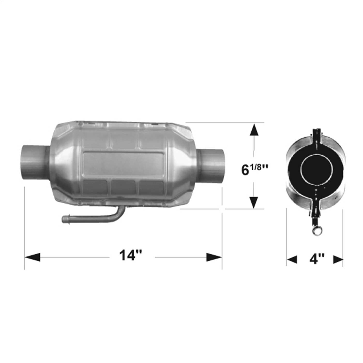 2200124 Flowmaster 49 State Catalytic Converters Universal Catalytic Converter