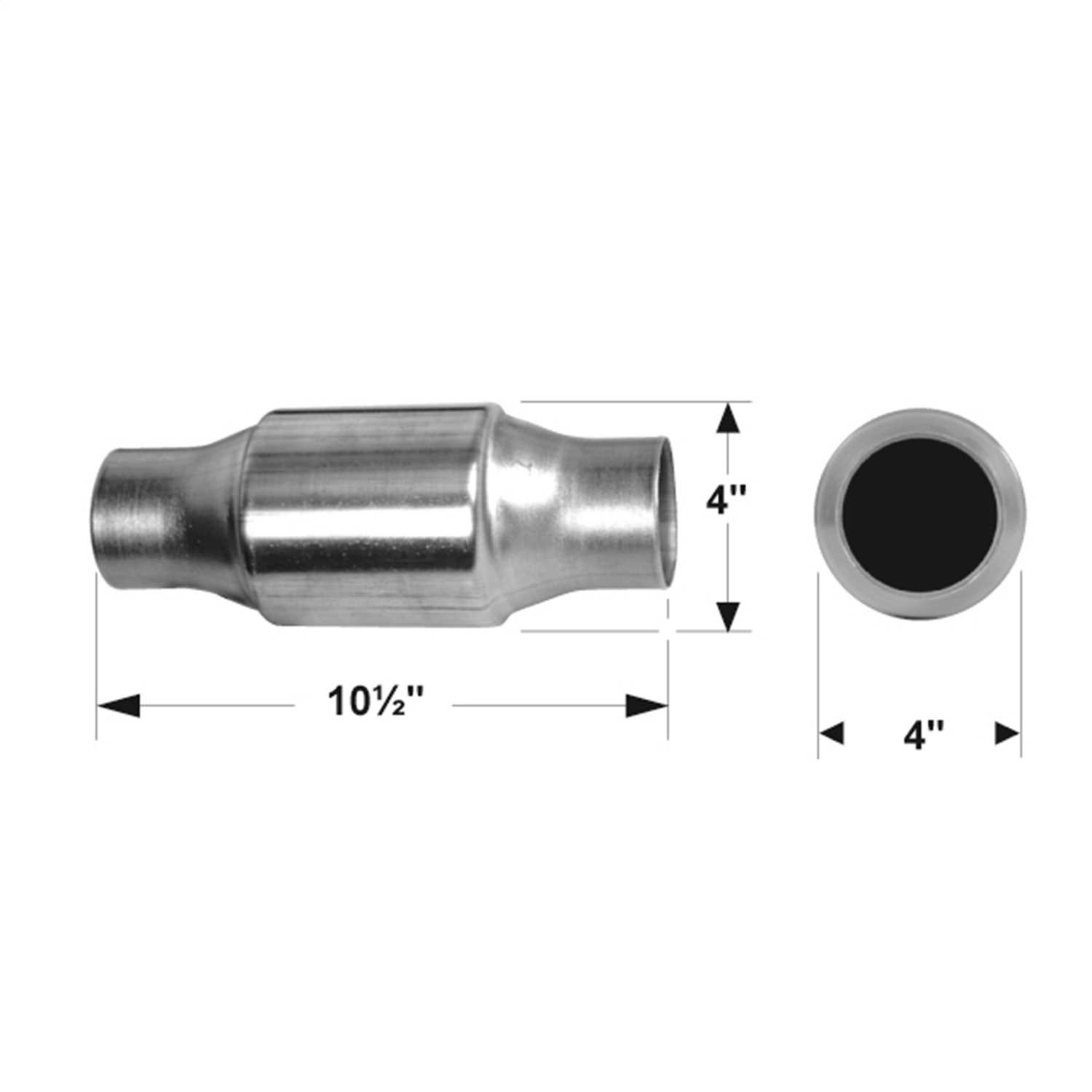 2230125 Flowmaster 49 State Catalytic Converters Universal Catalytic Converter