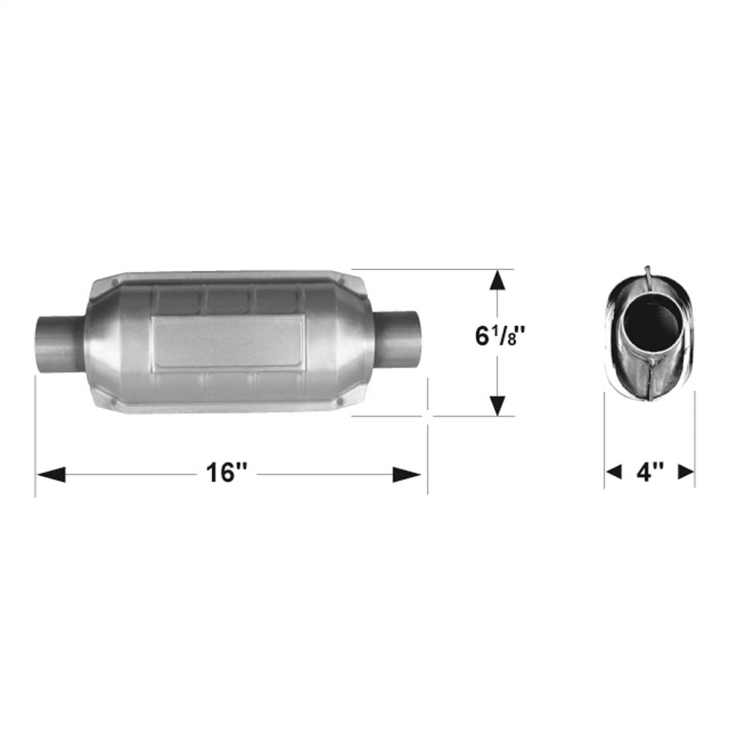 2250230 Flowmaster 49 State Catalytic Converters Universal Catalytic Converter