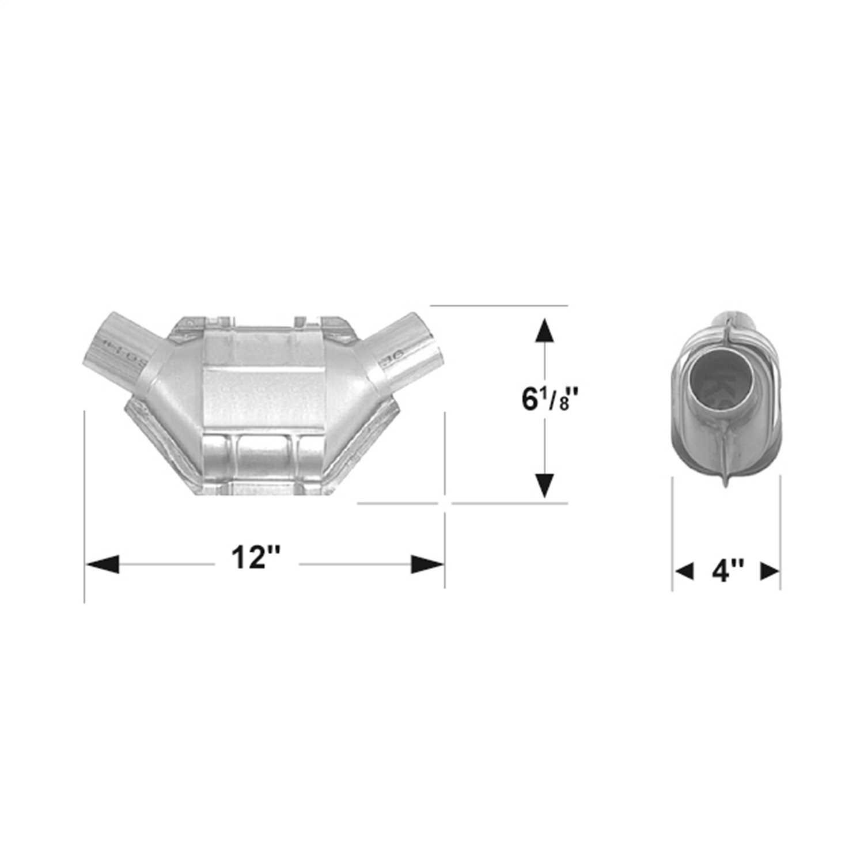 2821324 Flowmaster 49 State Catalytic Converters Universal Catalytic Converter