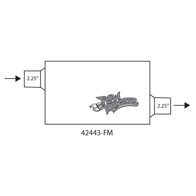 42443-FM Flowmaster FlowMonster Muffler