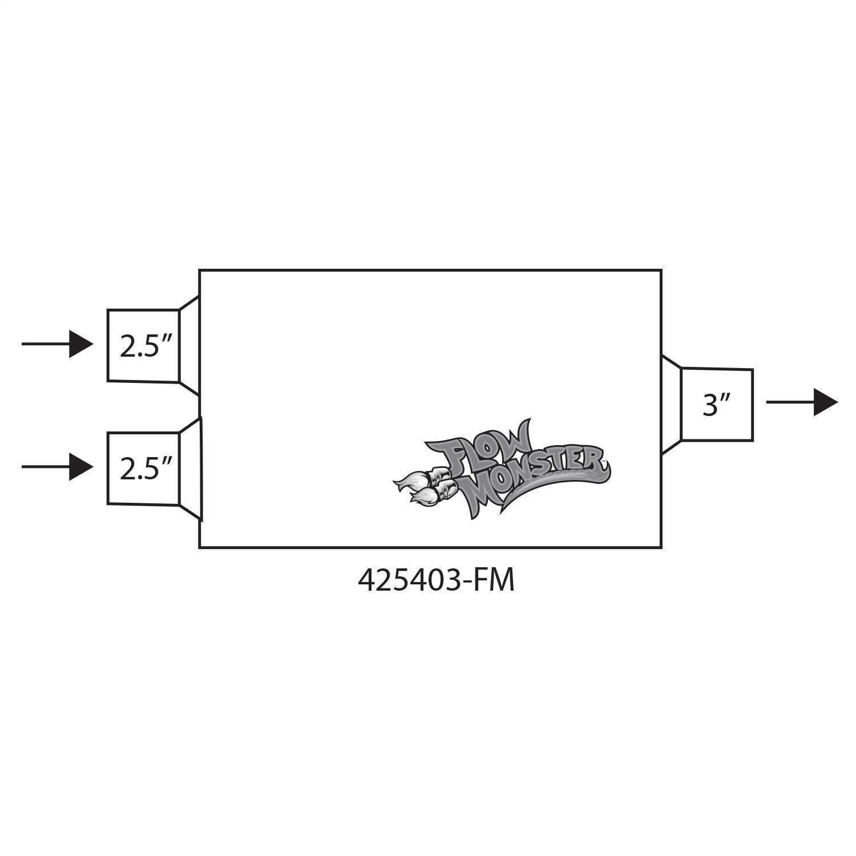 425403-FM Flowmaster FlowMonster Muffler