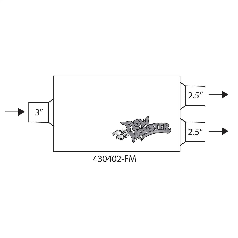 430402-FM Flowmaster FlowMonster Muffler
