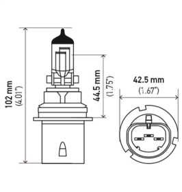 HB1/9004 Long Life Halogen Bulb