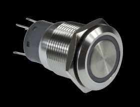 Single-Pole/Single-Throw LED Push Switch