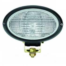 Oval 100 Single Bean Halogen Work Lamp