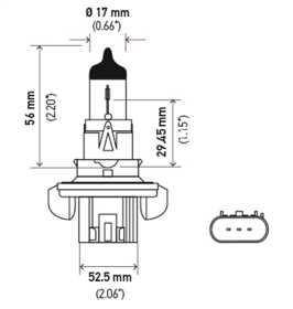 H13 Halogen Bulb