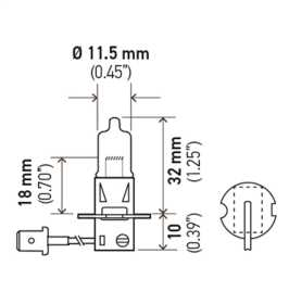 T3.25 Heavy Duty Halogen Bulb
