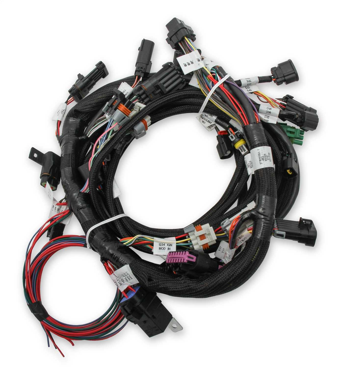 Holley EFI Ford Coyote TI-VCT Engine Main Wiring Harness- Tennessee on ford alternator connectors, ford wiring connectors, auto wiring plug connectors, ford coil connectors, different types of wire connectors, ford radio connectors, ignition wire connectors, ford terminal connectors, ford wire terminals,