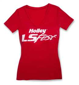Ladies LS Fest V-Neck T-Shirt