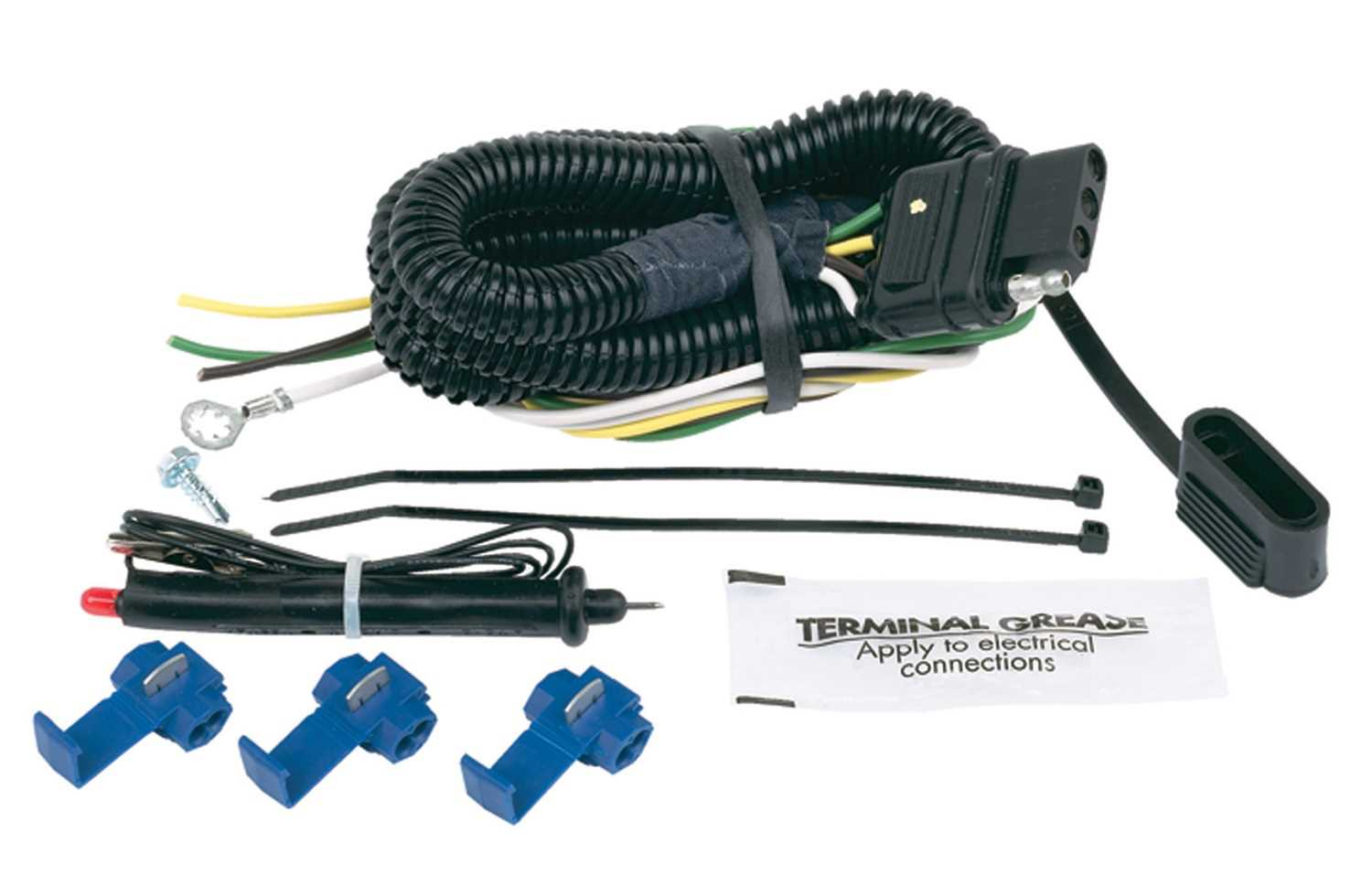 Universal Vehicle To Trailer Wiring Harness Auto Outfitters For Car Hopkins Towing Solution 46105