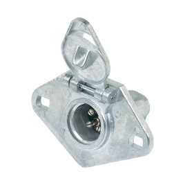 4-Pole Round Heavy Duty Vehicle End Connector