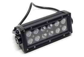 6 in. LED Light Bar Black Face Straight Double Row