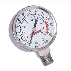 Stem Mount Air Pressure Gauge