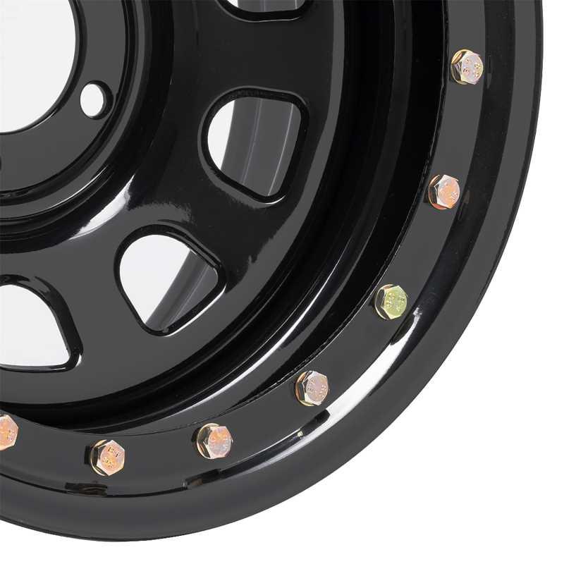 Rock Crawler Series 252 Black D-Window Wheel 252-5185F