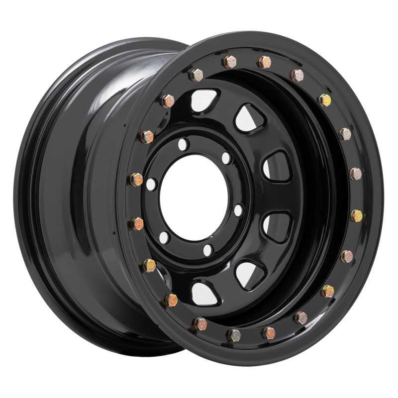 Rock Crawler Series 252 Black D-Window Wheel 252-5883F