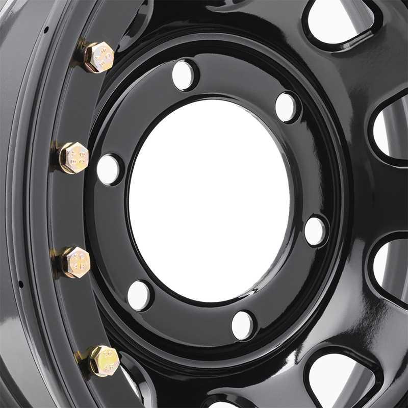 Rock Crawler Series 252 Black D-Window Wheel 252-6183