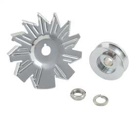 Chrome Plated Alternator Fan And Pulley Kit
