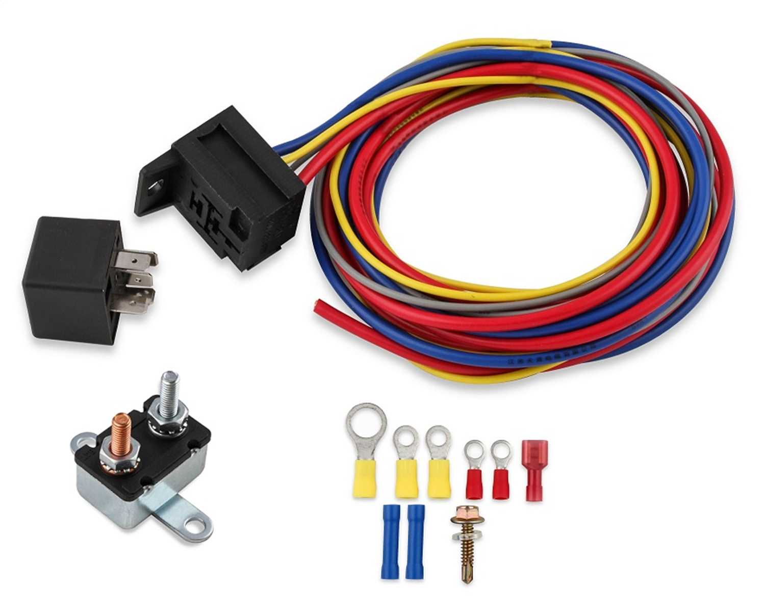 Electric Fuel Pump Harness And Relay Kit Red Line Auto Wiring Connectors Msd Ignition 89618