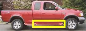 GlaStep Plus Custom Fiberglass Cab Length Running Boards