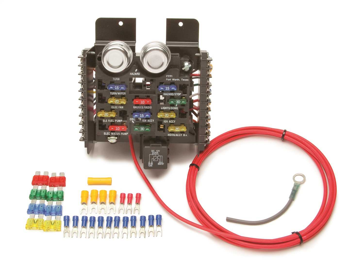 Painless Wiring 11 Fuse Compact Universal Race/Pro Street Fuse Block 50101  - 50101