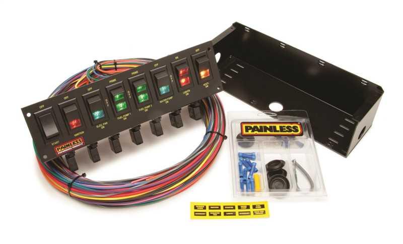 8-Switch Rocker Circuit Breaker Panel 50306