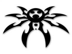 Large Spyder Hood Decal