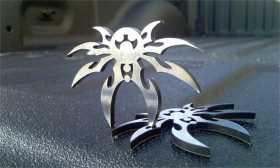 Chrome Spyder Emblem