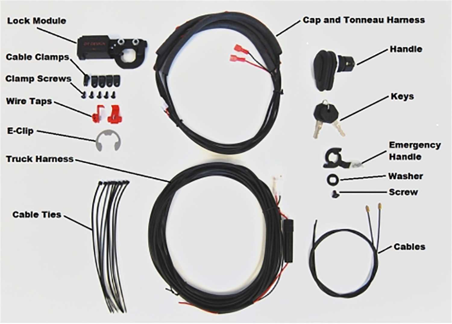 Tonneau Cover Power Lock Kit Truck Alterations Tie Wire Harness Clips Pop And Pl9555