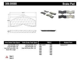 StopTech Sport Brake Pads