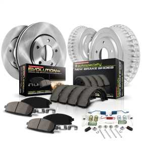 Autospecialty By Power Stop 1-Click Daily Driver Pad/Rotor/Drum And Shoe Kits