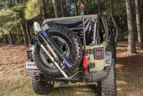 Spare Tire Tool Rack System