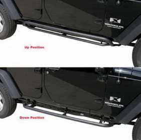 Side Bar Retractable RockerGuard Step