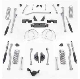 Extreme Duty Radius Long Arm Kit w/Shocks JKR443M