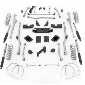 Extreme Duty Radius Long Arm Kit w/Shocks JKRR44M