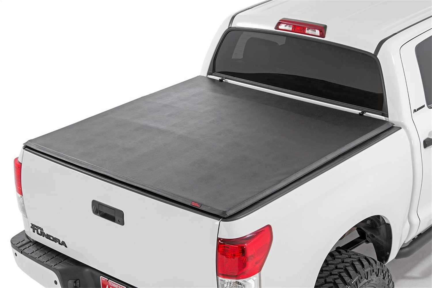 44707651 Rough Country Soft Tri Fold Tonneau Bed Cover Patriot