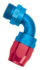 Full Flow Radius Port 90 Deg. Swivel Hose End