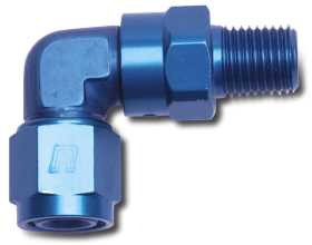 90 Deg. Female AN To Male Swivel NPT Adapter Fitting