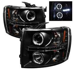 Halo LED Projector Headlights Motorwise Performance Parts