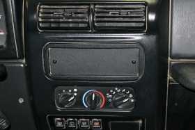 Stereo Dash Cutout Cover