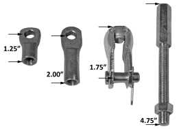 Brake Booster Extension Rod And Clevis Kit