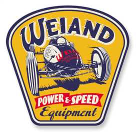 Weiand Metal Power/Speed Sign