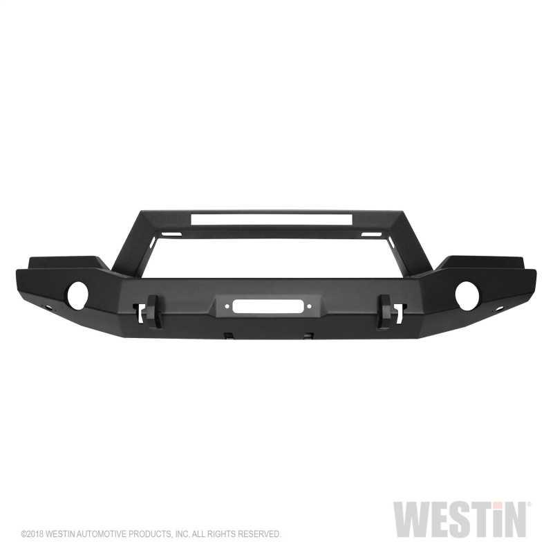 WJ2 Full Width Front Bumper w/LED Light Bar Mount 59-80055