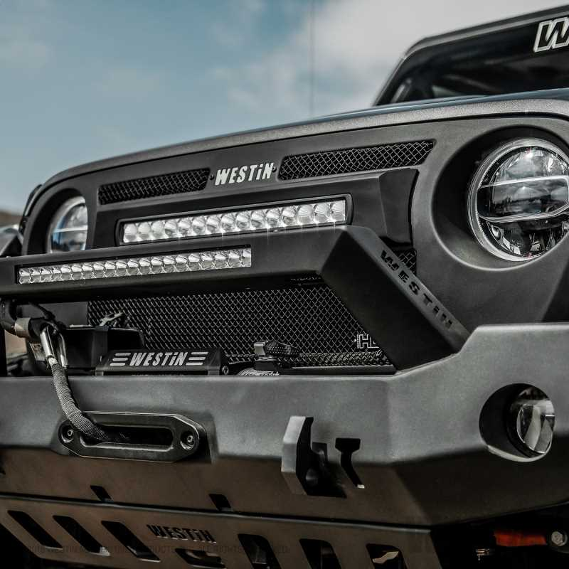 WJ2 Full Width Front Bumper w/LED Light Bar Mount 59-80125