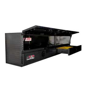 Brute High Cap Stake Bed Contractor Tool Box 80-TB400-96D-BD-B